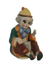 Cute Wind Up Clown Music Figurine