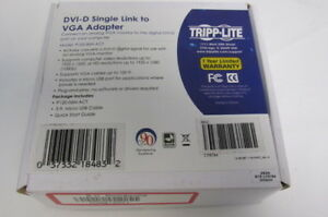 Tripp·Lite DVI-D Single Link to VGA Adapter P120-06N-ACT New