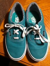 EUC Vans Off the Wall Rubber Canvas Green Unisex Shoes Men's 5.5 / Women's 7