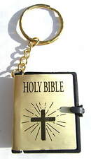 Micro Holy Bible Keyring 170 pages some Old and New Testament need 30x magnifier