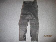 Gebrauchte schwarze Motorradlederhose mit Lederprotektoren, Gr. 40, Krawehl