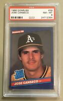 Jose Canseco 1986 Donruss Rated Rookie #39 PSA 8