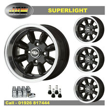 7x 13 Superlight Ruedas Ford clásico conjunto de 4 Negro