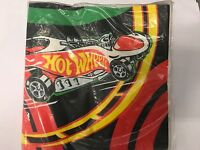 Sealed Vintage 1997 Hot Wheels Beverage Party Napkins 16 count NEW boy cars