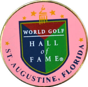 WORLD GOLF HALL OF FAME (Pink) GOLF BALL MARKER