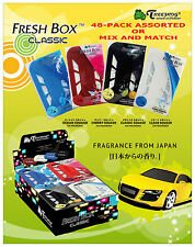 48 PACK TREEFROG FRESH BOX CLASSIC ASSORTED SQUASH SCENTS AIR FRESHENER / REFILL