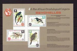 Seychelles MNH 1976 Birds sheet mint stamps