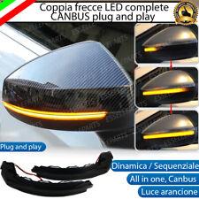 COPPIA FRECCE SPECCHIETTI LED DINAMICHE PROGRESSIVE SEQUENZIALI AUDI A3 8V