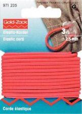 Corde élastique 2,5 mm rouge 3 m - carte de Prym 971235 0,80€/ m