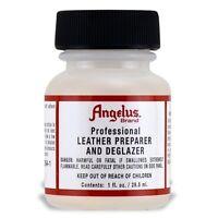 Angelus Professional Leather Preparer & Deglazer 1oz Bottle Use Before Painting