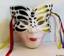 """Porcelain Ceramic Decorative Face Mask-Lady Butterfly Face-Wall Hanging 7"""""""