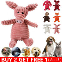 Cute Pet Dog Chew Toy Squeaker Squeaky Soft Plush Play Sound Puppy Teeth Toys UK