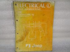 1987 ELECTRIC TROUBLESHOOTING MANUAL JEEP WRANGLER/YJ  8980 010 325