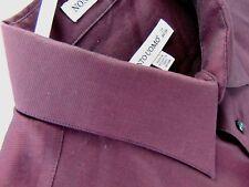 Pronto Uomo Dress Shirt Maroon Size 17 34/35 Non Iron Mens Wearhouse Long Sleeve