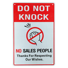 3x Warning Sign Do Not Knock Sales People 200x300mm Al Private Property 16003042