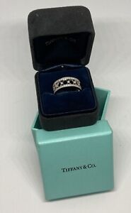 Tiffany & Co Voile Platinum Eternity Diamond Ring Size 8 - NEVER WORN!