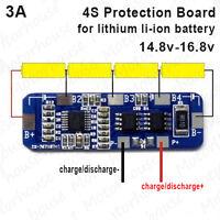 4S 3A BMS Protection Circuit PCB Module 14.8V 18650 Lithium Li-ion Battery Packs