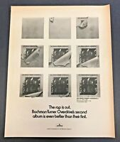 """1974 Bachman-Turner Overdrive II """"Their Second"""" Album Release vintage print ad"""