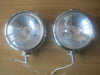 SPOT LIGHT / LAMP PAIR 5 INCH POLISHED CHROME WITH BULBS *NEW*