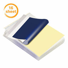 16Sheets Tattoo Transfer Paper Stencil Paper 8.5''x11'' A4 Size for Tattooing