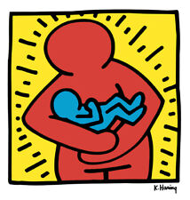 Keith Haring MOTHER and BABY 12x12  Pop Art Giclee Print **SALE