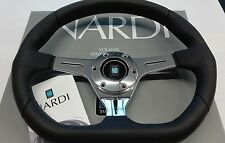 NARDI KALLISTA LEATHER steering wheel black leather - glossy spokes size 13.78