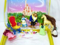 Disney Princess Favorite Moments Beauty & the Beast  Horse Carriage Doll Set Lot