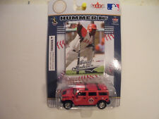 Garret Anderson FLEER ULTRA COLLECTIBLES 2004 CARD WITH HUMMER H2 Angels Diecast