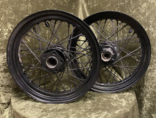 "Harley Davidson 16"" Wheels Black Front And Rear"
