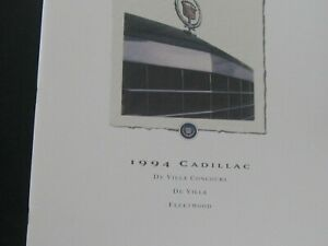 1994 Cadillac Concours,Deville and Fleetwood Fwd sales brochure