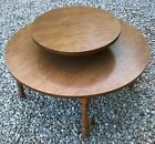 Vintage Atomic Mid Century Two Tier Coffee Table Round Lazy Susan Formica