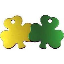 Placas de identificación de color principal dorado para perros