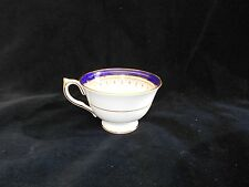 Aynsley 1646 Leighton Footed Teacup Only Ear-Handle Cobalt & Gold