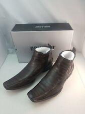 Bonafini Dark Brown Moc Toe Dress Boot Mens D 620 size 11 side zip