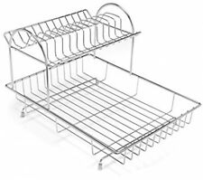Addis 2-Tier Drainer Dish Draining Rack Stainless Steel - 4-Piece