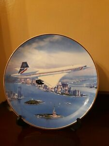 WESTMINSTER COLLECTION CONCORDE 'SUPERSONIC SKYLINE' COLLECTOR PLATE - New York.