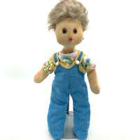 Steiff Floppy Doll Romy Baby Toy 28cm 11in 1970s no ID Mohair Plush Hair Vtg