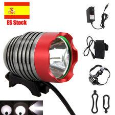 5a598197a 8000Lumen XM-L T6 LED Linterna Frontal Foco Bicicleta Cabeza Luz Faro +  Batería