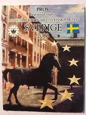 Sweden Euro Pattern Set - Probe, Essai, Trial, Europroben