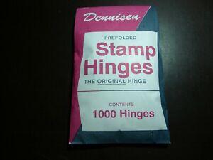 PACKAGE OF DENNISON HINGES FOLDED