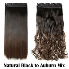 100% Mega Thick Clip In Hair Extensions As Human Full Head Hair Extention A8E