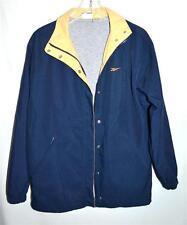 Reebok Navy Blue & Yellow Trim with Drawstring Bottom Womens Jacket Size M