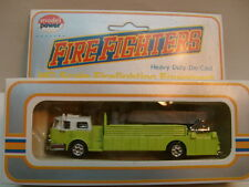 MADE IN HK MODEL POWER HO AERIAL TOWER LADDER/BUCKET FIRE TRUCK LIME GREEN MIB