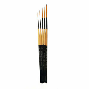 Artmaster Series 2200 Rigger Paint Brush Set of 5 for Watercolour, Acrylic, Ink