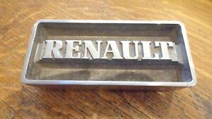 ancien embleme sigle monogramme renault en inox