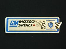 Rare GM Motor Sport R7U Players Challenge Camaro Engine Plenum Decal, 3rd Gen
