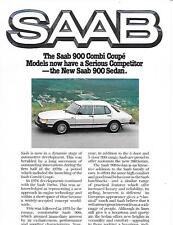 SAAB 900 SEDAN, TURBO AND AUTOMATIC TURBO SALES BROCHURE / POSTER 1980