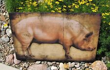 Large Canvas PIG Wall Picture*Primitive/Farmhouse French Country Kitchen Decor