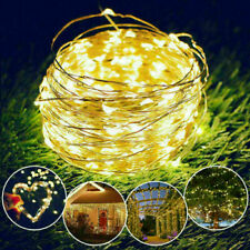 100 LED Solar Power Fairy Garden Lights String Outdoor Party Wedding Xmas