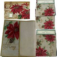 Merry Christmas Tapestry Table Runner, Door Mat, Rug, Place Mat, Xmas